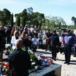 BIBINJE, 02.05.2020., koronavirus 29. obljetnica pogibelji Franko Lisica iz Bibinja (24. 09. 1968.- 02. 05. 1991), mjesno groblje Sasavac...